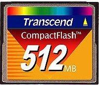 Transcend CompactFlash Card (CF) 512MB (TS512MFLASHCP)