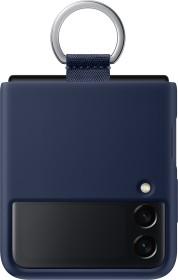 Samsung Silicone Cover with Ring für Galaxy Z Flip 3 5G Navy (EF-PF711TNEGWW)