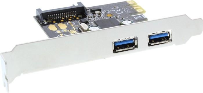 InLine 76666L, 2x USB-A 3.0, PCIe 2.0 x1
