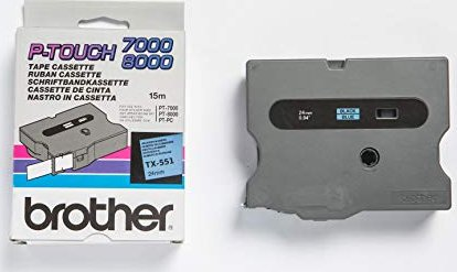 Brother TX-551 24mm, blau auf schwarz -- via Amazon Partnerprogramm