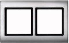 Merten Aquadesign Rahmen 2fach, aluminium (400260)