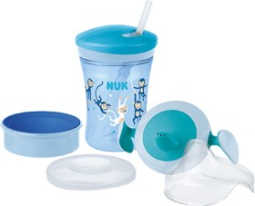 NUK Trinklern-Set Affen blau, 230ml (10255518)