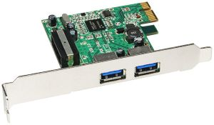 Sharkoon USB 3.0 Host Controller Card, 2x USB 3.0, PCIe 2.0 x1 (9909)