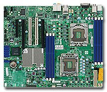 Supermicro X8DAL-i, i5500 (dual Socket 1366, triple PC3-10667R reg ECC DDR3)