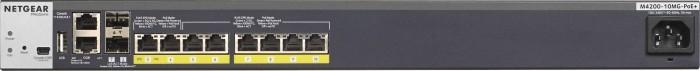 Netgear ProSAFE M4200 Easy-Mount Rackmount Gigabit Managed Switch, 8x RJ-45, 2x SFP+, PoE+ (M4200-10MG-PoE+/GSM4210P-100)