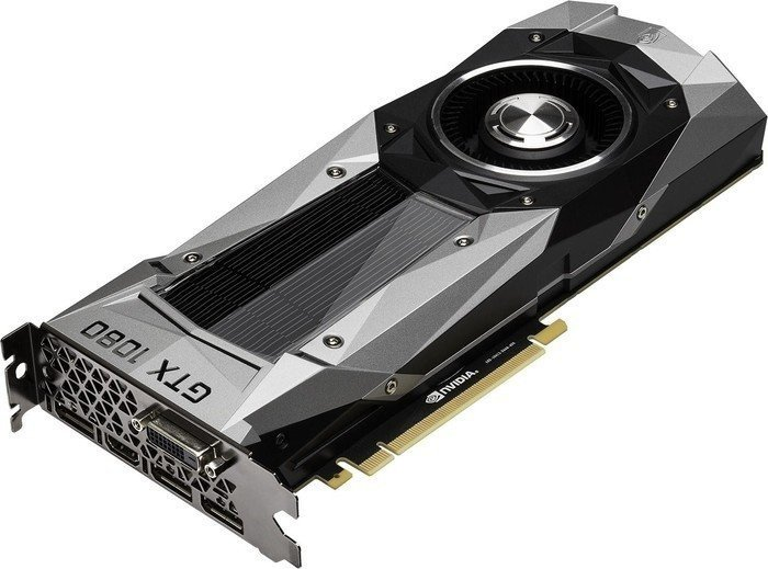 PNY GeForce GTX 1080 Founders Edition, 8GB GDDR5X, DVI, HDMI, 3x DP (GF1080GTX8GEPB)