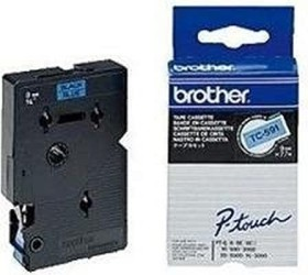 Brother TC-591 9mm, blau/schwarz (TC591)