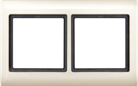 Merten Aquadesign Rahmen 2fach, weiß (400244)