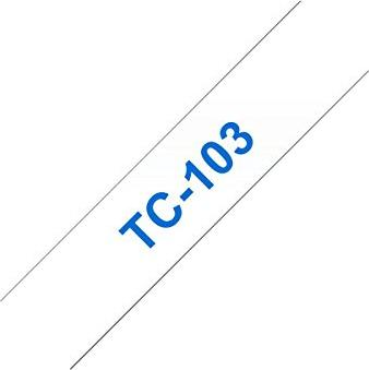 Brother TC-103 (12mm, transparent auf blau) -- via Amazon Partnerprogramm