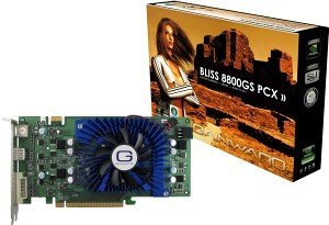 Gainward BLISS GeForce 8800 GS, 384MB DDR3, 2x DVI, TV-out, PCIe 2.0 (9153)