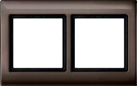 Merten Aquadesign Rahmen 2fach, dunkelbrasil (400215)