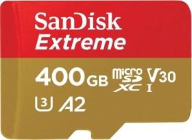 SanDisk Extreme R160/W90 microSDXC 400GB Kit, UHS-I U3, A2, Class 10 (SDSQXA1-400G-GN6MA)