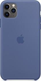Apple Silikon Case für iPhone 11 Pro Max leinenblau (MY122ZM/A)