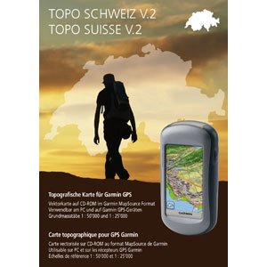 Garmin digital cards on CD - topographic map Switzerland entire V2 (PC) (902150)