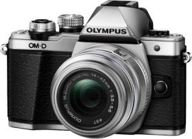 Olympus OM-D E-M10 Mark II silber mit Objektiv M.Zuiko digital 14-42mm II R (V207051SE000)