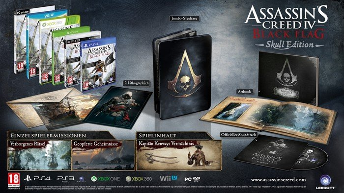 Assassin's Creed IV - Black Flag - The Skull Edition (PS3)