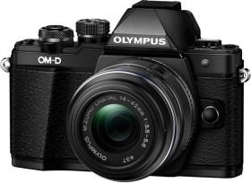Olympus OM-D E-M10 Mark II schwarz mit Objektiv M.Zuiko digital 14-42mm II R (V207051BE000)