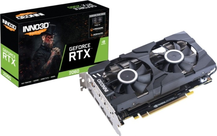 INNO3D GeForce RTX 2060 Twin X2, 6GB GDDR6, HDMI, 3x DP (N20602-06D6-1710VA23)