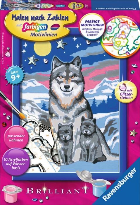 Ravensburger Malen Nach Zahlen Süße Wolfsfamilie 27784