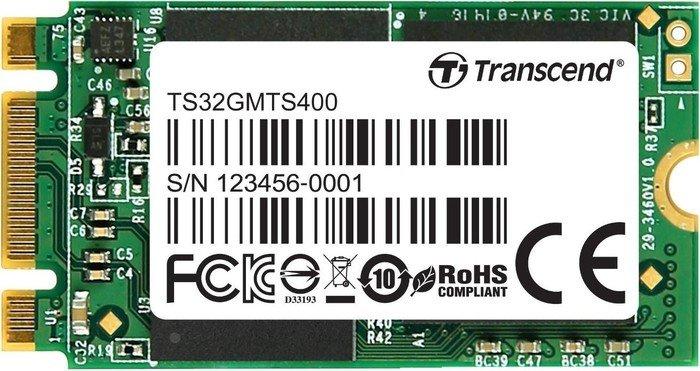 Transcend M.2 SSD 400 32GB, M.2 (TS32GMTS400)