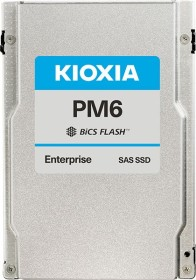 KIOXIA PM6-M Enterprise - 10DWPD Write intensive SSD 1.6TB, SED FIPS, SAS (KPM6WMUG1T60)