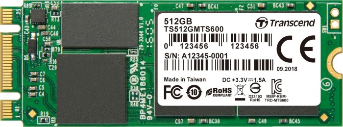 Transcend M.2 SSD 600 512GB, M.2 (TS512GMTS600)