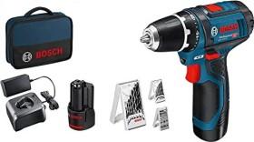 Bosch Professional GSR 12V-15 Akku-Bohrschrauber inkl. Tasche + 2 Akkus 2.0Ah + Zubehör (0615990GB0)