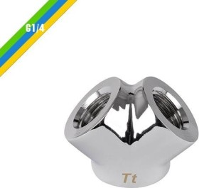 """Thermaltake Pacific Y adapter G1/4"""", chrome-plated (CL-W054-CU00SL-A)"""