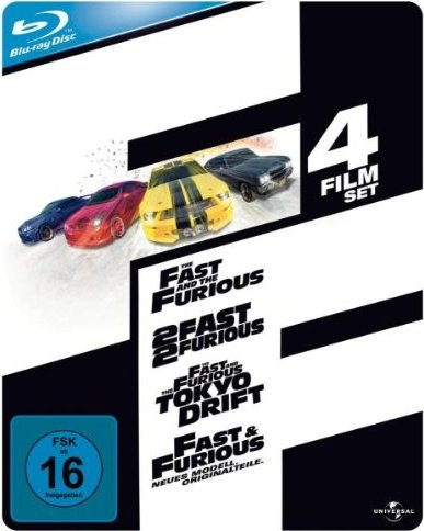 The Fast And The Furious Box (Filme 1-4) (Blu-ray) -- via Amazon Partnerprogramm