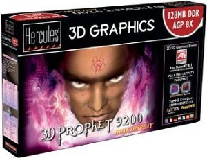 Guillemot / Hercules 3D Prophet 9200, 128MB DDR, DVI, TV-out, AGP, Bulk (4860294)