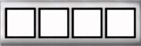 Merten Aquadesign Rahmen 4fach, aluminium (400460)