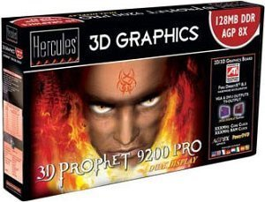 Guillemot / Hercules 3D Prophet 9200 Pro, 128MB DDR, DVI, TV-out, AGP, Bulk