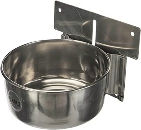 Nobby stainless steal bowl with mounting Medium, 600ml (38037)