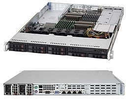 Supermicro 119TQ-R700UB black, 1U, 750W redundant