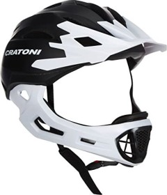 Cratoni C-Maniac Fullface-Helm schwarz/weiß matt (112401E1/112401E2/112401E3)