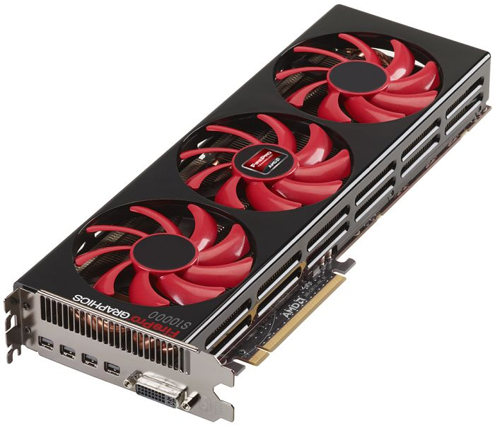 AMD FirePro S10000, 2x 3GB GDDR5 ECC, DVI, 4x mini DisplayPort (100-505772)