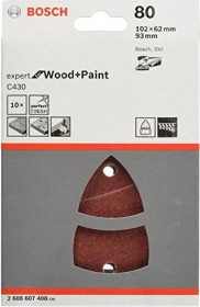 Bosch multi sander sheet C430 Expert for Wood and Paint 102x62x93mm K80, 10-pack (2608607408)