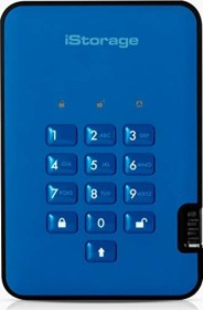 """iStorage diskAshur 2 SSD blau 1TB, 2.5"""", USB-A 3.0 (IS-DA2-256-SSD-1000-BE)"""