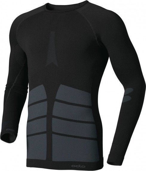 Odlo Evolution Warm Shirt langarm schwarz (Herren)