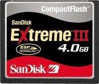 SanDisk R30/W30 CompactFlash Card [CF] Extreme III 4GB (SDCFX3-004G-E31)