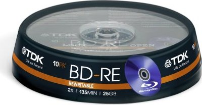TDK BD-RE 25GB 2x, 10er Spindel (T78831) -- via Amazon Partnerprogramm