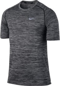 Nike Dri-FIT Knit Laufshirt kurzarm heather/schwarz (Herren) (833562-010)