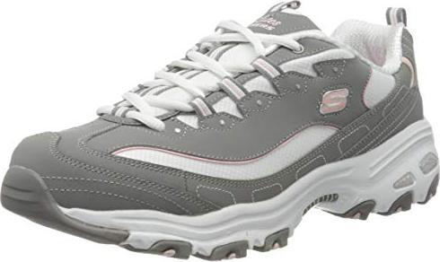 Details zu Skechers D'Lites Biggest Fan Damen Schuhe Sneaker Turnschuhe 11930 (Grau GYW)