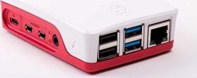 Raspberry Pi offizielles Gehäuse für Raspberry Pi 4, weiß/rot
