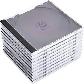 Hama CD-empty shell Standard, 10-pack, transparent/black (44746)