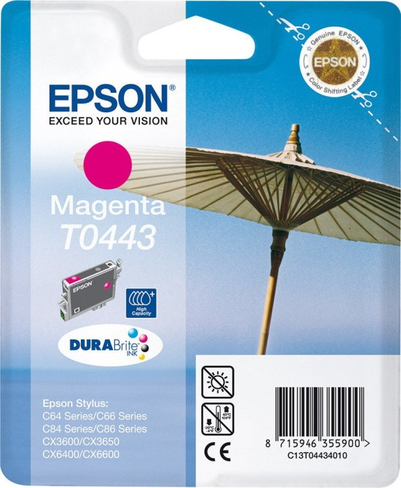 Epson T0443 tusz purpurowy (C13T04434010)