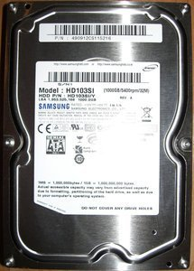 Samsung EcoGreen F2  1TB, 32MB Cache, SATA 3Gb/s (HD103SI) -- provided by bepixelung.org - see http://bepixelung.org/2982 for copyright and usage information