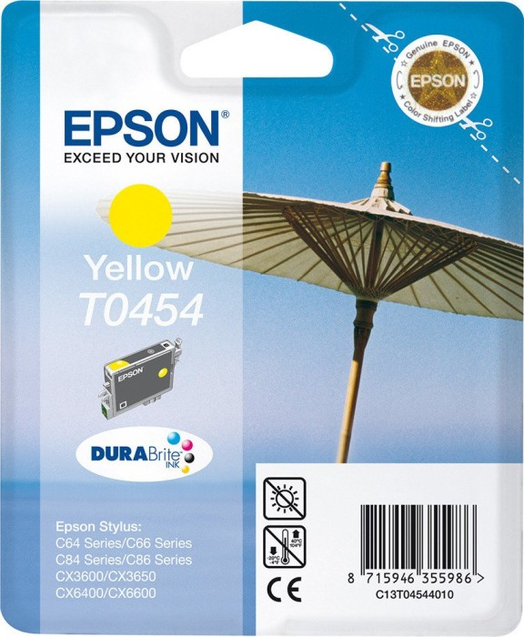 Epson T0454 ink yellow (C13T04544010)
