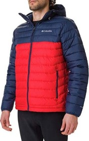 Columbia Powder Lite Hooded Jacke mountain red/collegiate navy (Herren) (1693931-616)