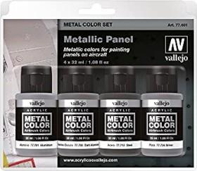 "Vallejo Metal Color ""Metallic Panel"" Farbset, 4-tlg. (77.601)"